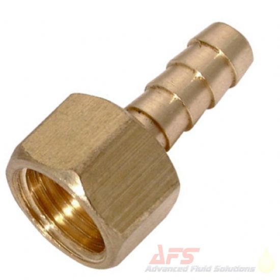 Brass BSPP Fixed Female x Barbed Hose Tail Fittings